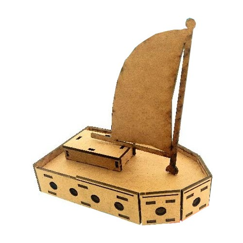 Sailboat Wooden Model Educational Fun Puuzle Toy