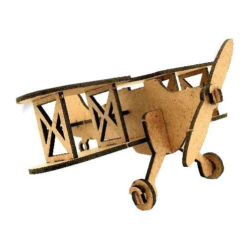 Uçak Ahşap Maket Eğlenceli Eğitici Puzzle Oyuncak