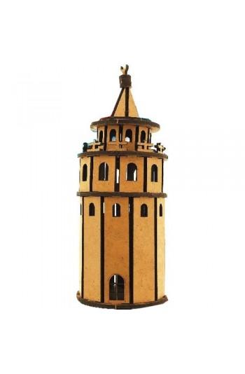 Galata Kulesi Ahşap Maket Eğlenceli Eğitici Puzzle Oyuncak