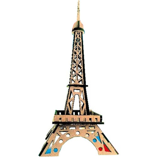 Eiffel Tower Wooden Model Fun Educational Puzzle Toy