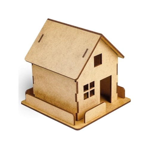 Fence House Wooden Model Fun Educational Puzzle Toy