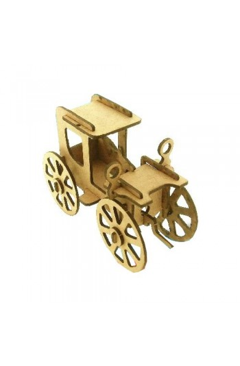 Klasik Araba Ahşap Maket Eğlenceli Eğitici Puzzle Oyuncak