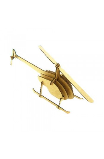 Helikopter Ahşap Maket Eğlendirici Eğitici Puzzle Oyuncak