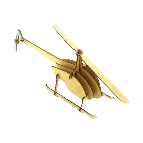 Helicopter Wooden Model Fun Educational Puzzle Toy