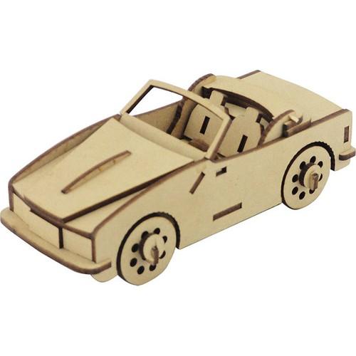 3D Sergi Ahşap Üstü Açık Araba Maketi 41 Parça
