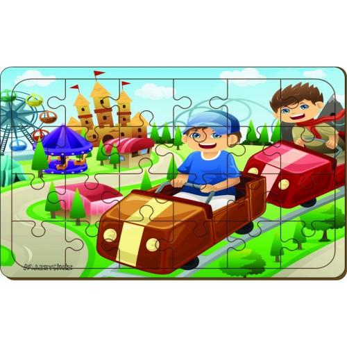 24 Parça Arabalar Ahşap Puzzle