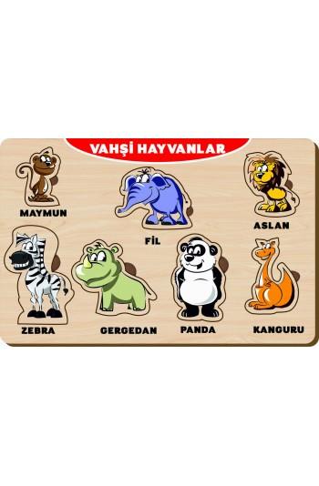 7 Parça Vahşi Hayvanlar Ahşap Puzzle