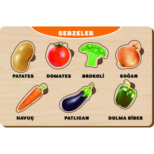 7 Parça Sebzeler Puzzle