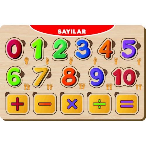 16 Parça Sayılar Ahşap Puzzle