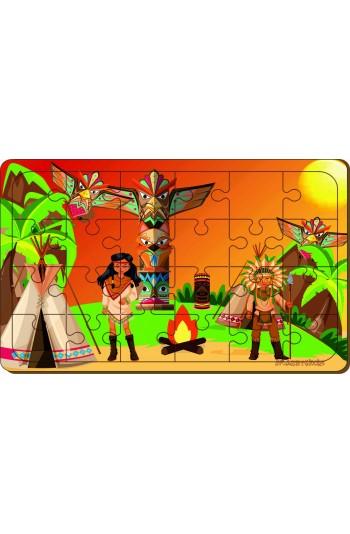 24 Parça Kızılderili Puzzle