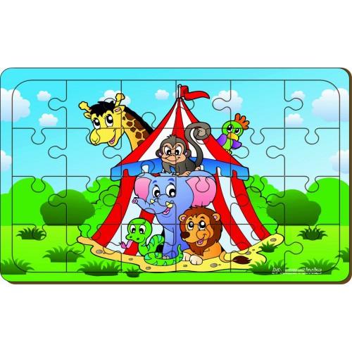 24 Parça Sirk Hayvanları Puzzle