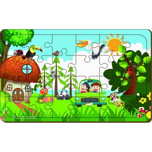 24 Parça Ormandaki Hayvanlar Puzzle
