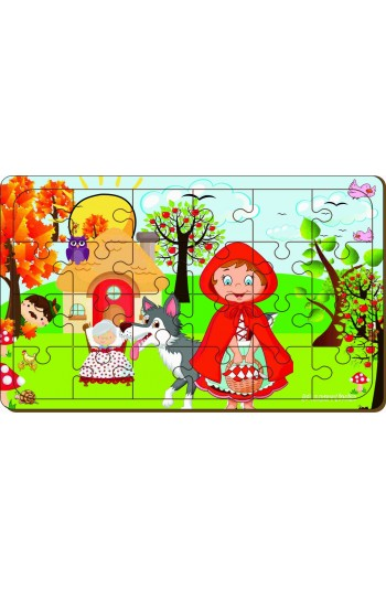 24 Parça Kırmızı Başlıklı Kız Puzzle