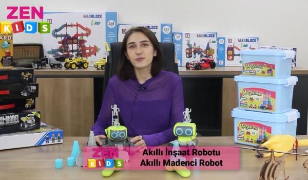 Akıllı inşaat ve madenci robotlar